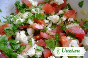 Постный овощной салат с сыром тофу Изображение
