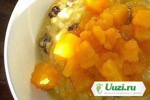 Тыквенно-рисовая каша с яблоками и изюмом Изображение