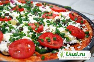 Пицца с зеленым луком Изображение