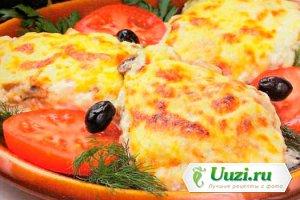 Курица с ананасом под сыром Изображение