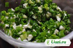 Салат зеленый с яйцом Изображение