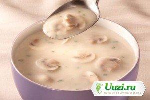 Суп молочный с грибами и картофелем Изображение