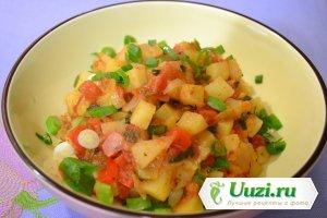 Овощное рагу кубики Изображение