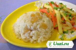 Кускус с изюмом и овощами Изображение