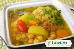 Суп с кюфтой и нутом Изображение