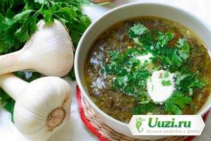 Суп с щавелем и вермишелью Изображение