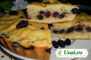 Быстрый пирог из шелковицы Изображение