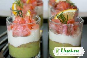 Веррите из авокада сливочного сыра и лосося Изображение
