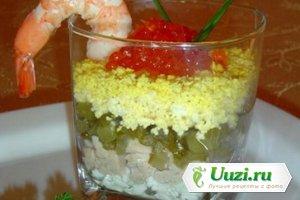 Веррине с печенью трески и красной икрой Изображение