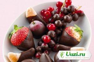 Фрукты в шоколаде Изображение