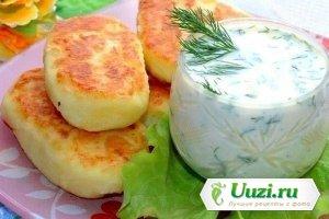 Картофельные оладьи с сыром Изображение