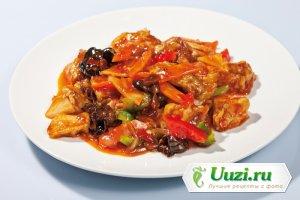 Телятина с овощами в китайском стиле Изображение