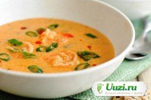 Гороховый суп-пюре с копченостями Изображение