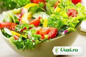 Легкий салат с сырно-горчичной заправкой Изображение