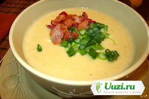 Картофельный суп-пюре с луком-пореем Изображение