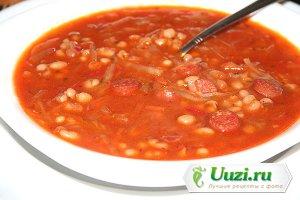 Суп с фасолью и сосисками Изображение
