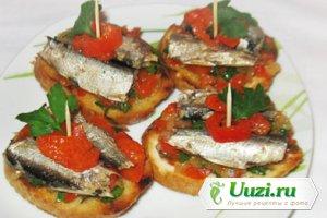 Пинчос с сардинами (бутерброды) Изображение