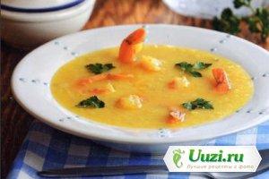 Суп с судаком и креветками Изображение