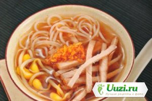 Суп-лапша со свининой Изображение