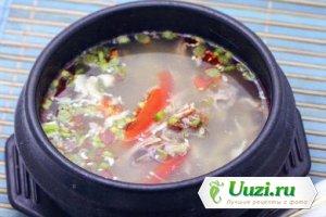 Острый суп с уткой Изображение