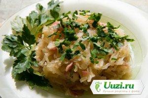 Баварский салат из квашеной капусты Изображение