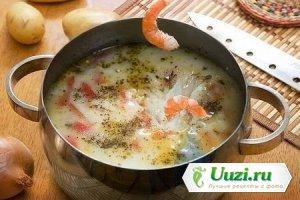 Перуанский суп с креветками Изображение
