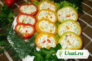 Перец фаршированный сыром и овощами Изображение