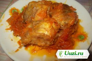 Чолент фиш (рыба тушенная с овощами) Изображение