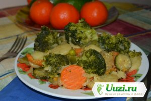 Овощное рагу из замороженных овощей Изображение