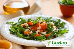 Салат из запеченной тыквы и рукколы Изображение