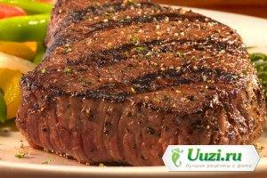 стейк из говядины в духовке на решетке