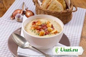 Нормандский овощной суп с гренками Изображение
