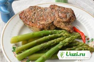 Зеленая спаржа с мясом Изображение