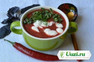 Суп-пюре из свеклы и яблок Изображение