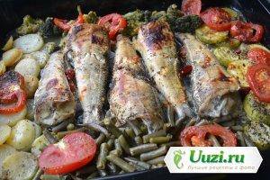 Рыба с овощами в духовке Изображение