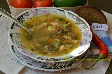 Куриный суп с чечевицей Изображение
