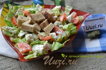 Вкусный салат с брынзой Изображение