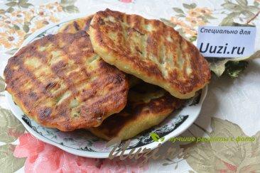 Картофельные лепешки с грибами Шаг 6 (картинка)
