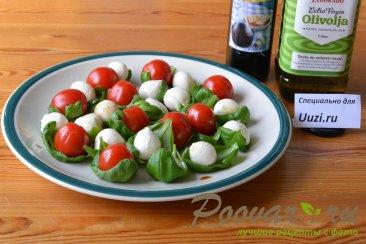 Салат с помидорами черри и сыром моцарелла Шаг 1 (картинка)
