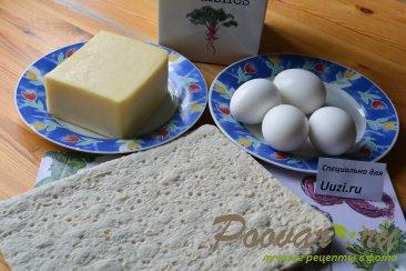 Рулеты с яйцами и сыром Шаг 1 (картинка)