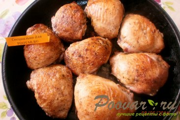Куриные бёдра запечённые в духовке Шаг 11 (картинка)