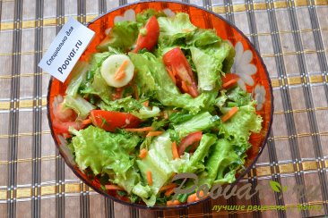 Салат из свежих овощей Изображение