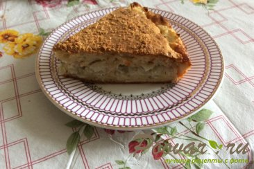 Заливной пирог с капустой Шаг 6 (картинка)