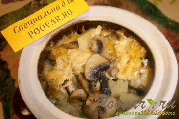 Жаркое из сердечек и печени с грибами Изображение