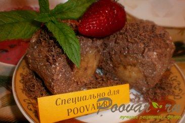 Творожно-шоколадный десерт с бананом Изображение