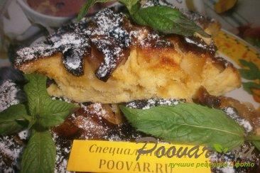 Пирог в сковороде без выпечки Изображение
