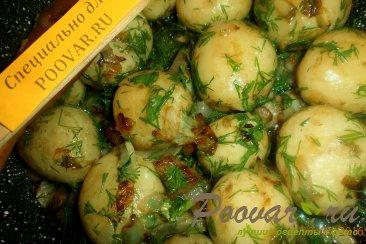Молодой картофель с салом и луком Шаг 10 (картинка)