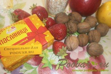 Овсяный пирог с яблоками и ягодами Шаг 1 (картинка)