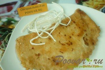 Чебуреки с сыром из слоёного теста Шаг 9 (картинка)