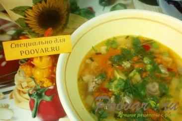 Суп из куриных сердечек Изображение